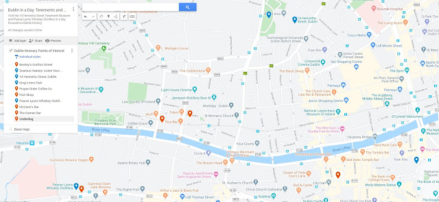 One Day of Dublin History Map