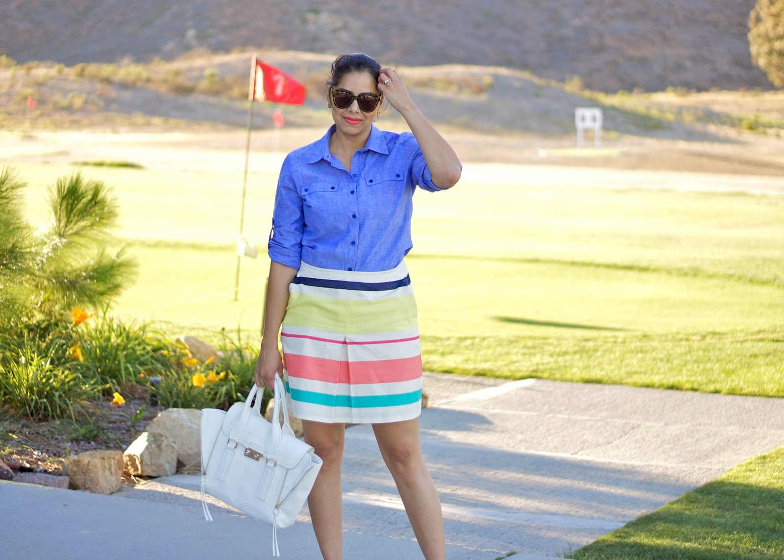 sporty prep chic, sporty waspy, sporty prep outfit, preppy outfit 2014, what to wear to the golf range, what to wear to golf san diego