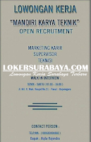 Walk In Interview di Mandiri Karya Teknik Bojonegoro November 2019