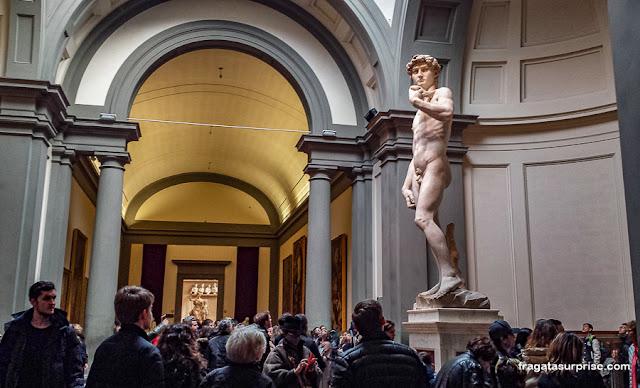 David de Michelangelo, Galleria della Accademia, Florença, Itália