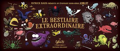 couverture de Axolot Hors-Série, Le bestiaire Extraordinaire par PatrickBaud et Eric Salch chez Delcourt