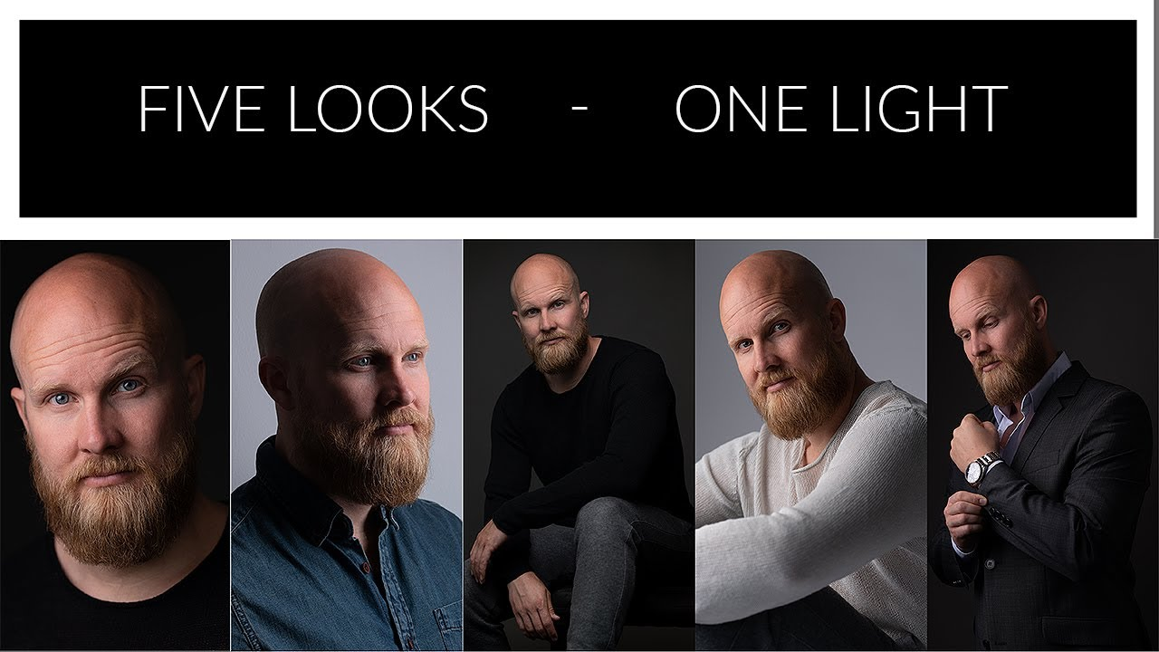 Five different Portraits with one light