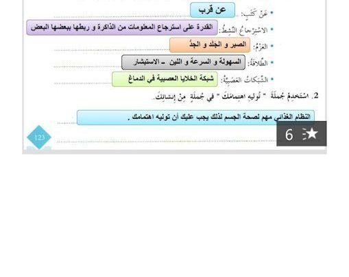 حل درس التعلم مؤلم ولكن يجب ان يكون لغة عربية
