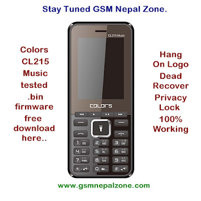 Colors CL215 Music Official Stock Firmware ROM (flashfile) Download Here