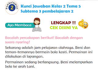 Kunci Jawaban Tematik Kelas 2 Tema 5 Subtema 3 pembelajaran 2 www.simplenews.me