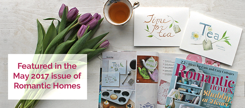Tea Lover Note Cards by Trowel and Paintbrush