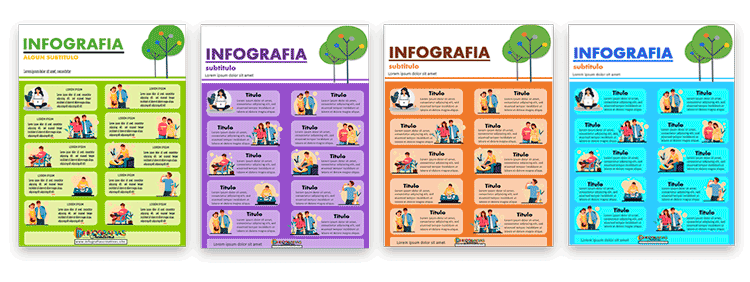 Infografías creativas hechas en PowerPoint