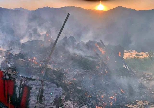 शिमला में भीषण अग्निकांड, महिला जिंदा जली, 6 घर जलकर हुए खाक