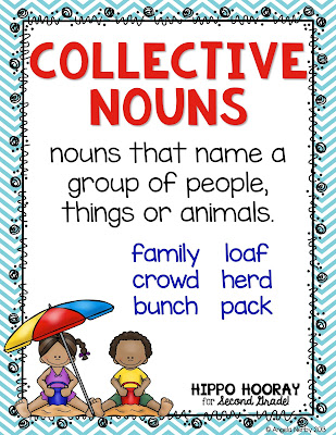 Not sure where to begin when teaching collective nouns? This blog post contains ideas, visuals,freebies, and activities for teaching your students all about collective nouns!!