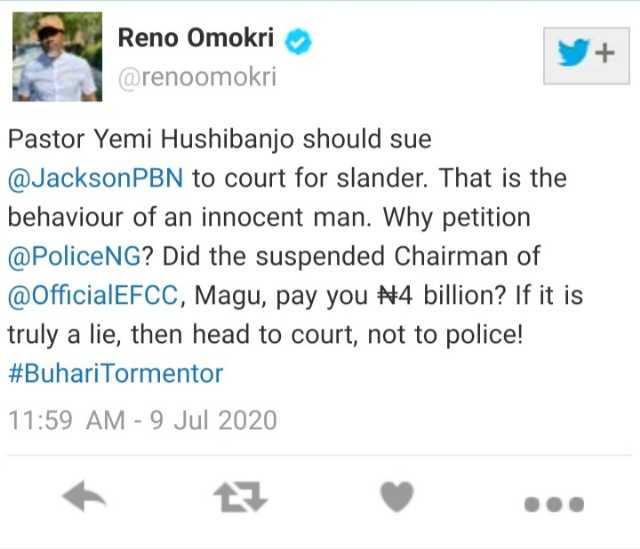 Pastor Osinbajo, Sue Jackson Ude, Leave IGP Out Of This - Reno Omokri