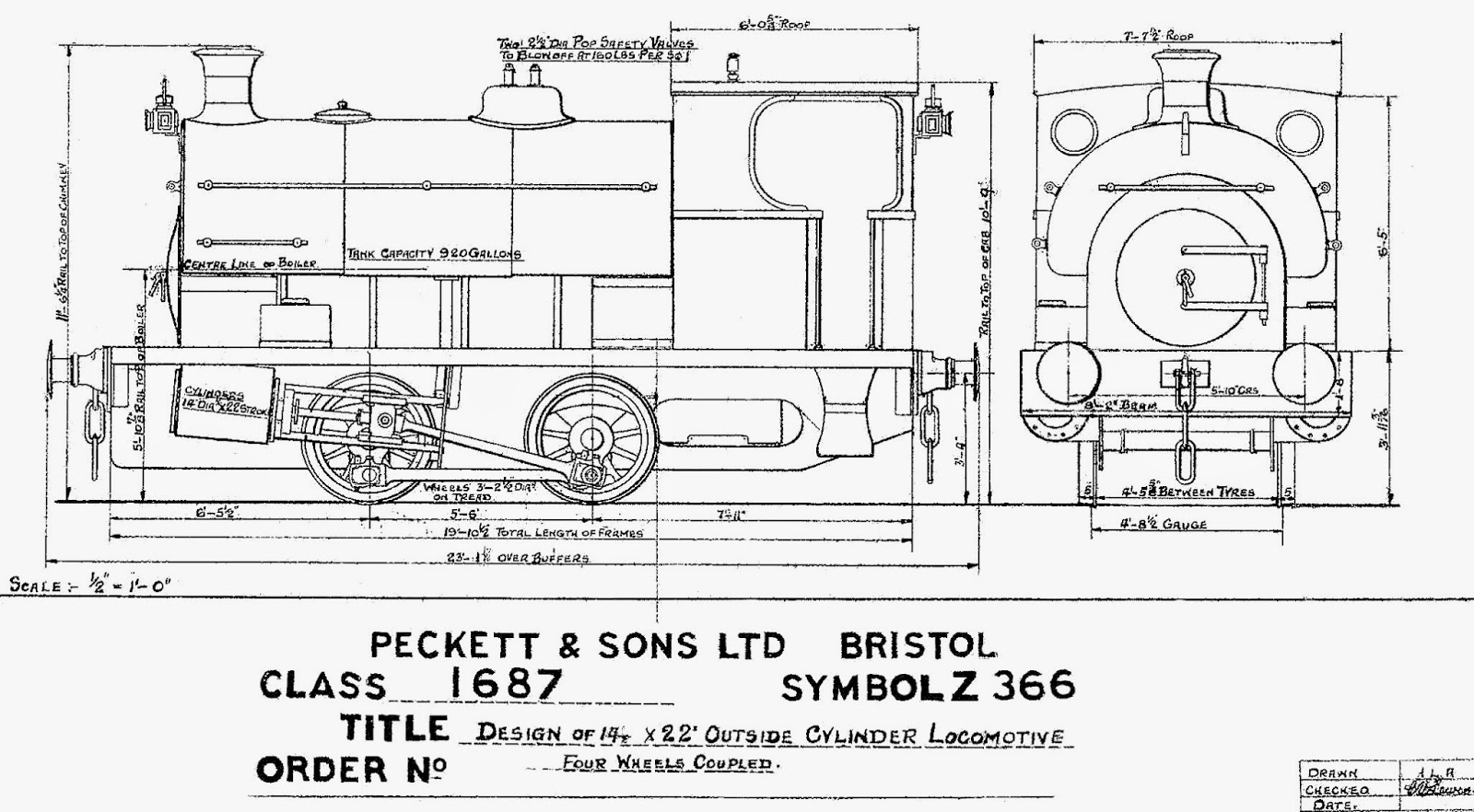 Steam Memories: Peckett saddle tank 1370
