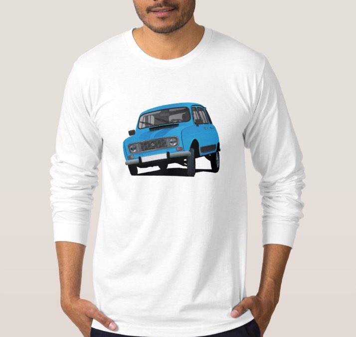 Renault 4 T-shirt | Car illustrations printed on T-shirts and other ...