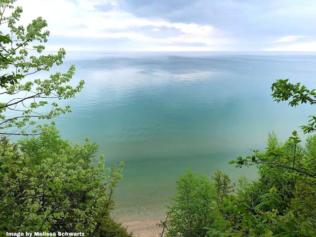 Trees yielded to breathtaking views of Lake Michigan at Warnimont Park.