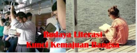 Apakah ada diantara mereka yang sudah senang dengan membaca Budaya Literasi Kunci Kemajuan Bangsa