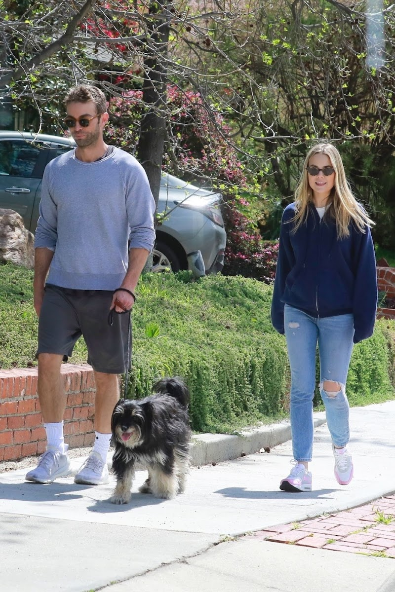 Rebecca Rittenhouse and Chace Crawford Clicked Outside in Los Feliz 25 MAr -2020