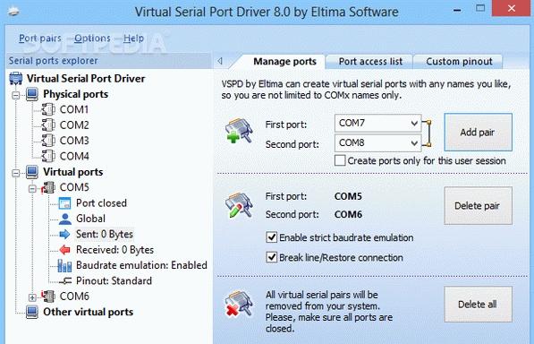 download Virtual Serial Port Driver 9.0 Build 9.0.575 Crack + Keygen