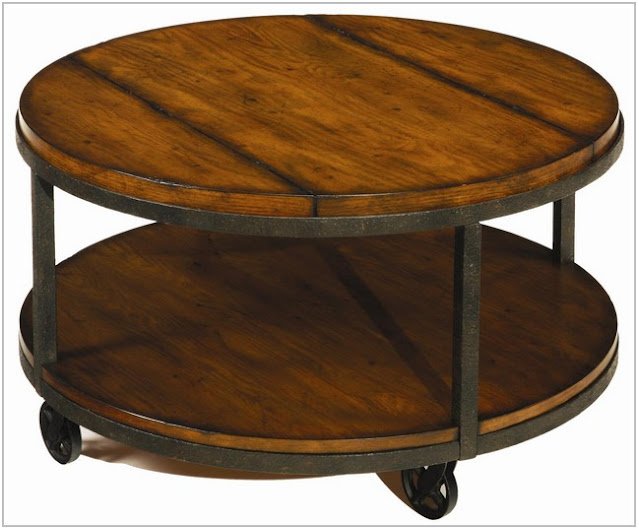 round coffee table with wheels
