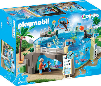 PLAYMOBIL Family Fun - 9060 Acuario Marino : Aquarium   2017 CAJA JUGUETE