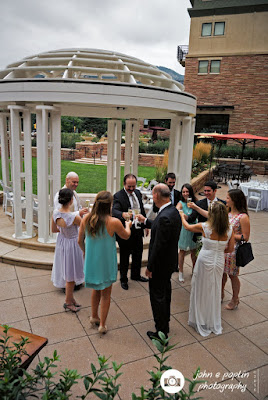 photography of the groom's brother making a toast at his wedding in boulder colorado