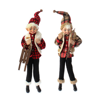 Winter Elves flannel shirts with sled and ski poles