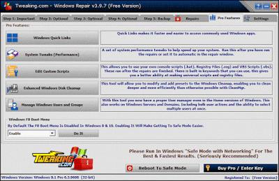 برنامج, اصلاح, الويندوز, وتصحيح, اخطاء, نظام, التشغيل, Tweaking ,Windows ,Repair