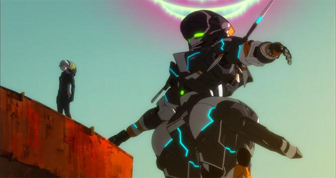 robot tampil di netflix gargantia