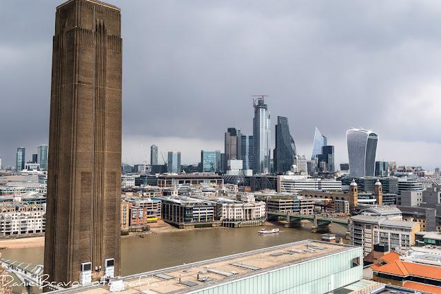 Vista de Londres desde la terraza de museo del Tate Modern