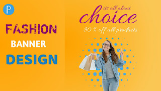 Fashion Banner Design on android in pixellab | Fashion Banner Design Tutorial | Pixellab Tutorial