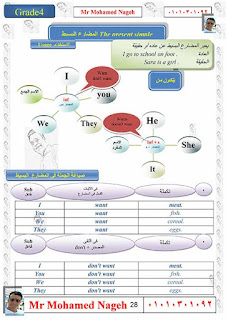 مذكرة تايم فور انجلش رائعة للصف الرابع الابتدائي الترم الاول من اعداد الاستاذ محمد ناجح