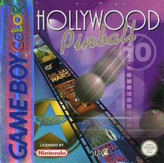 Portada del cartucho de GBC Hollywood Pinball, 1999