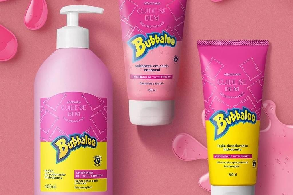 Ação em conjuntos de duas marcas lançam um produto da linha de cosméticos para os amantes da nostalgia