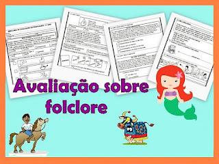 Avaliação de português sobre folclore