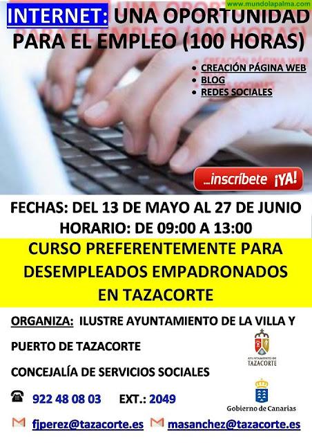 Se abre el plazo de inscripción para los dos nuevos cursos de formación gratuitos en Tazacorte