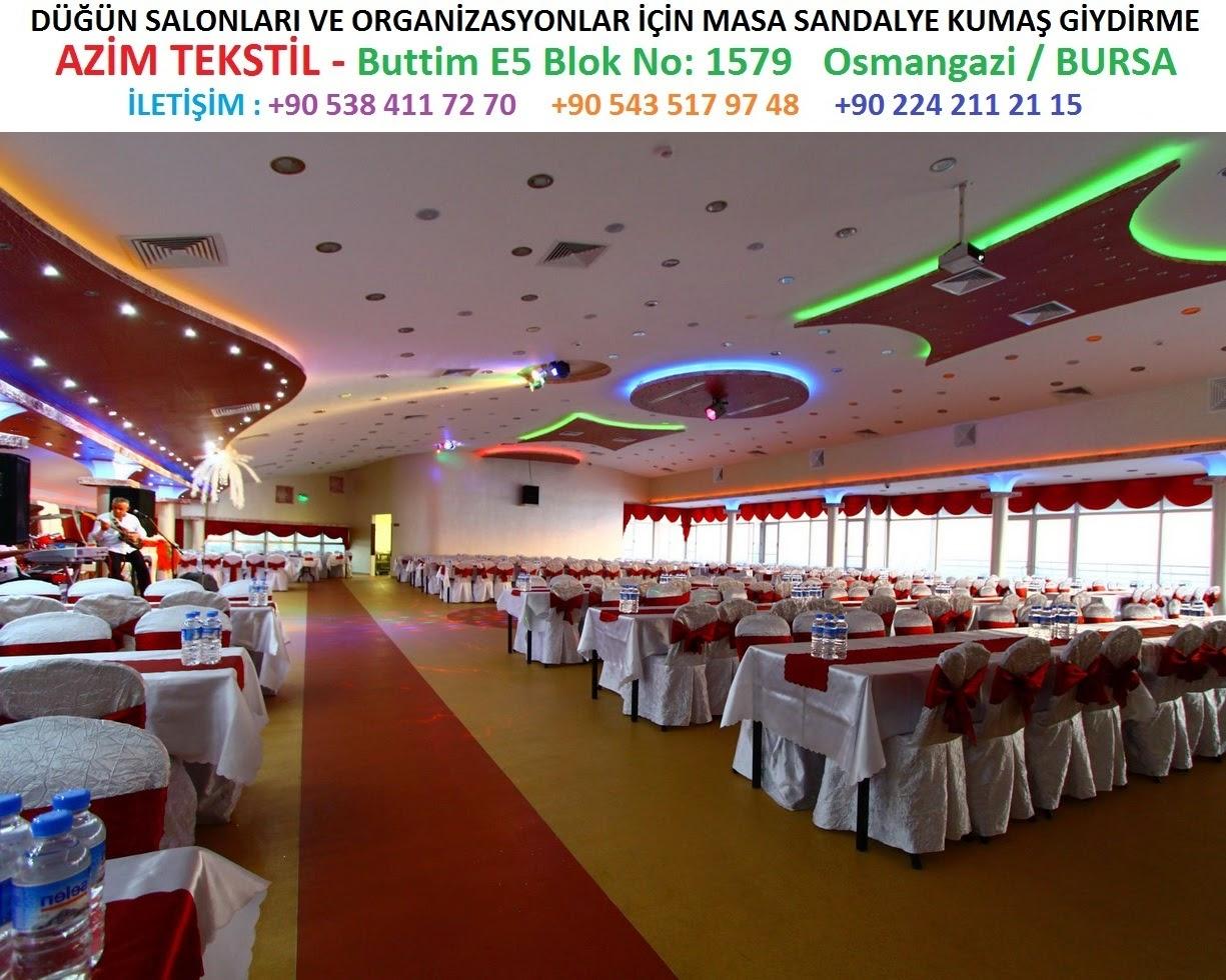 otel restaurant düğün salonu gibi salonların masa örtüsü ve sandalye giydirmeleri