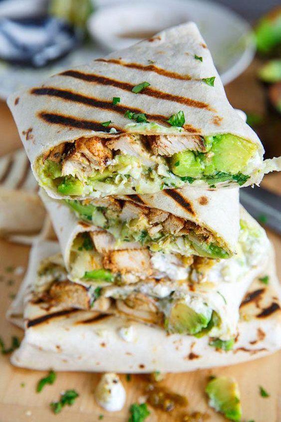 Best and Delicious Chicken and Avocado Burritos