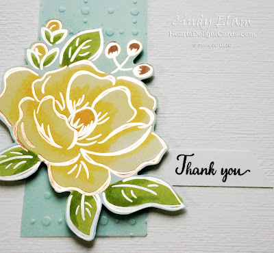 Heart's Delight Cards, Thank You card, Flowering Foils SAB, So Very Vellum SAB, 2020 Sale-A-Bration, Stampin' Up!