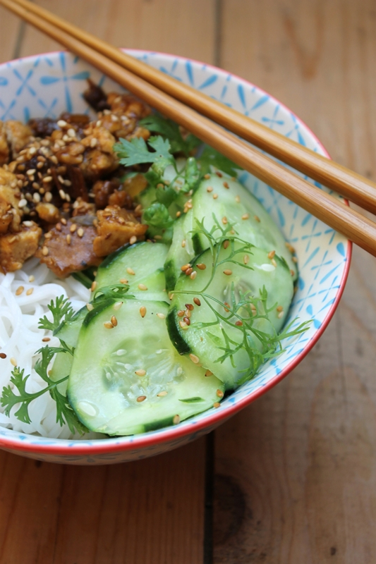 schlangen gurken salat