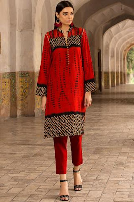 Warda Printed Khadddar with red color winter unstitched collection