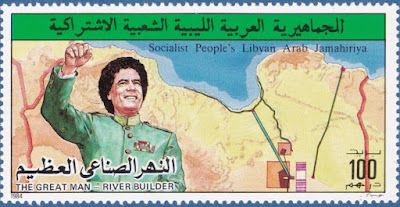 Libya 1984 hydraulic engineering Gaddafi