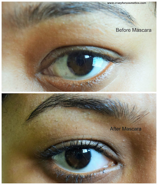 Sephora The Mascara - Volume, Length & Definition Before & After