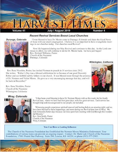 Harvest Times, Volume 41 Number 4, July - August 2019
