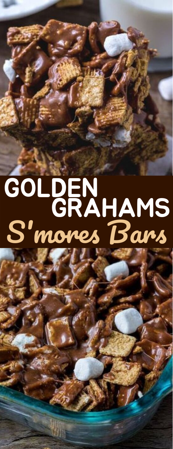Golden Grahams S'mores Bars #desserts #bars