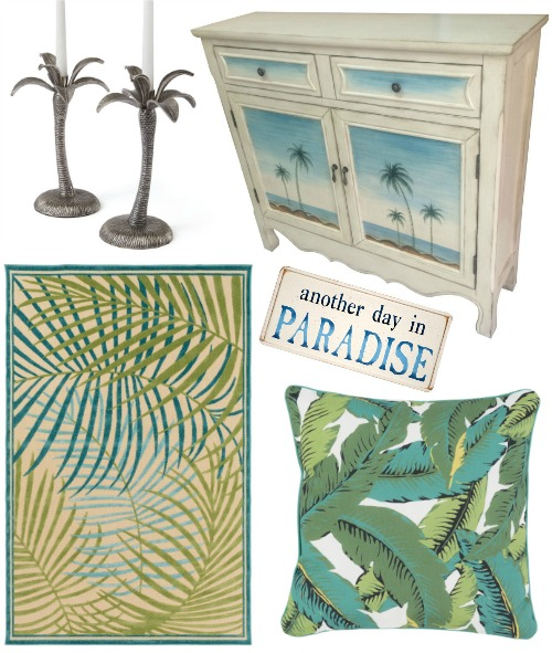 Tropical Palm Decor