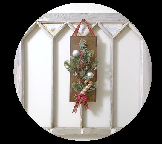 Last Minute Cabinet Door Christmas Wreath