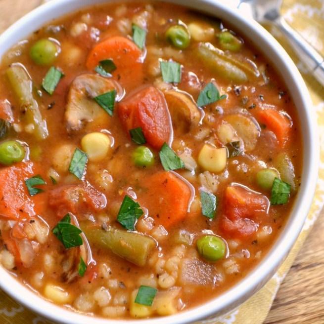 Vegetable Barley Soup #vegan #soup