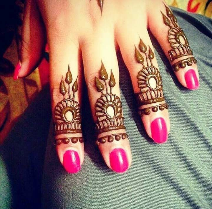 Intricate Ring Mehndi Designs For Fingers
