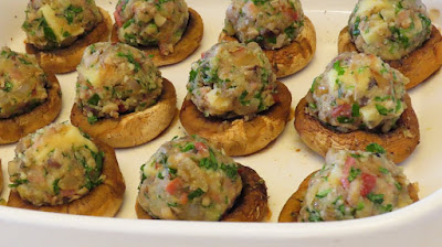 Savršen ručak - Punjeni šampinjoni / Perfect lunch - Stuffed champignons