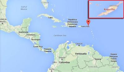 Gambar Peta letak wilayah Anguilla