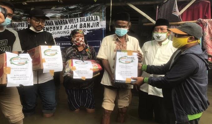 Bank Sampah Dedikasi Villa Balaraja Salurkan Bantuan ke Korban Banjir di Desa Kedung