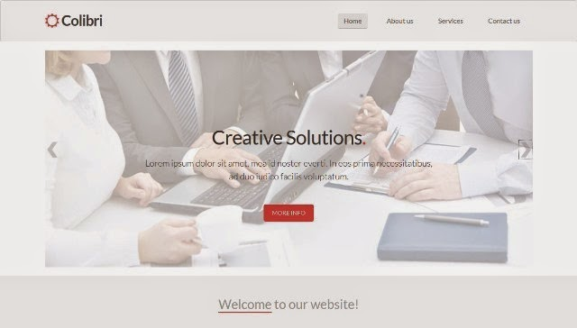 Colibri – Free Bootstrap Business Template